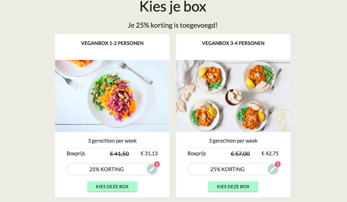 De Vegan maaltijdbox